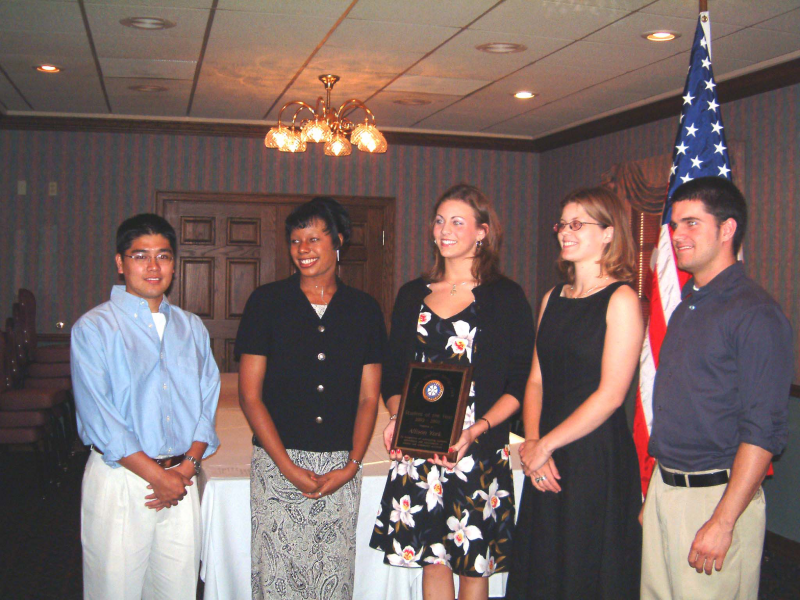 Students of the Year at 2003 meeting