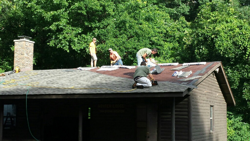 Roofing the Winter Lodge at Boy Scout Camp Warren Levis